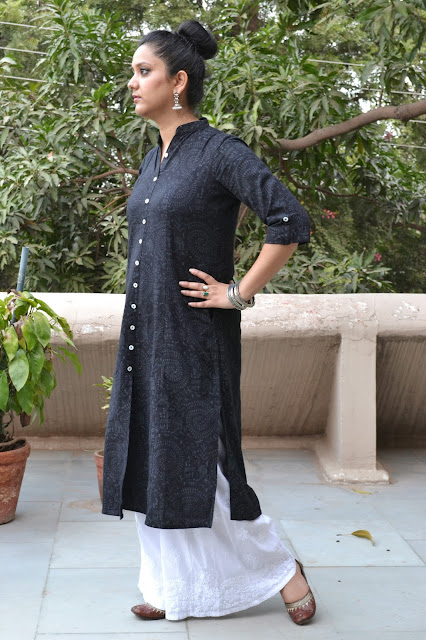 Ethnic look long kurta with palazzos