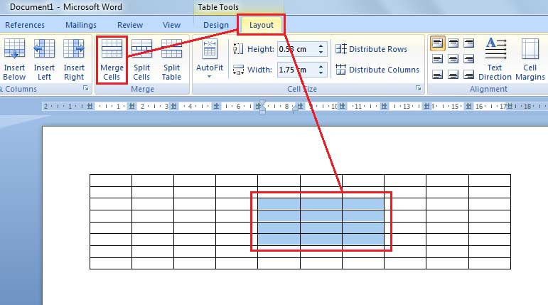 October 29 Blog: How to merge cells from table in MS Word