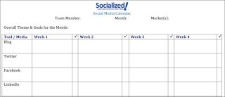 Blog and Social Media Calendar