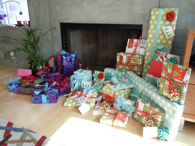 Christmas gift-wrapped presents 2010