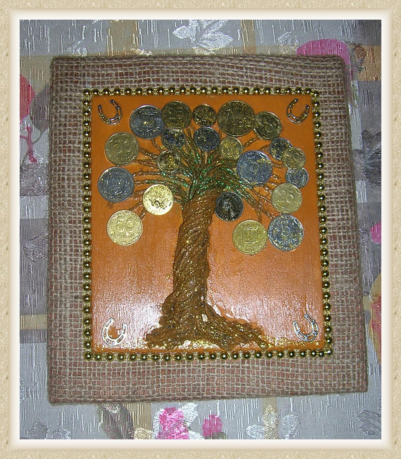 Мастер-класс покажет как сделать денежное дерево из монет 22