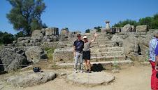 Touristes à Olympie