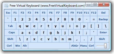 تحميل لوحة مفاتيح الافتراضية للويندوز Free Virtual Keyboard 3 0 1 0