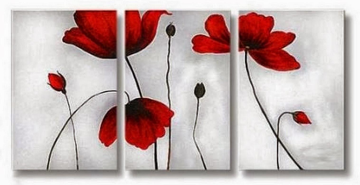 Cuadros modernos pinturas y dibujos cuadros tripticos en - Fotos cuadros modernos ...