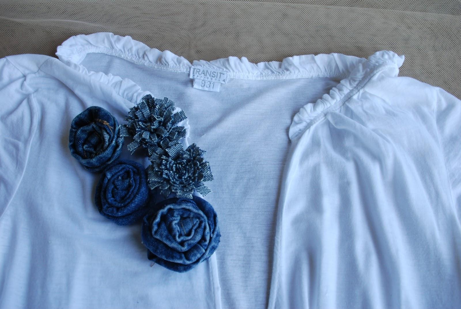 Mamolicas customizar ropa flores tela de vaqueros - Decorar pantalones vaqueros ...