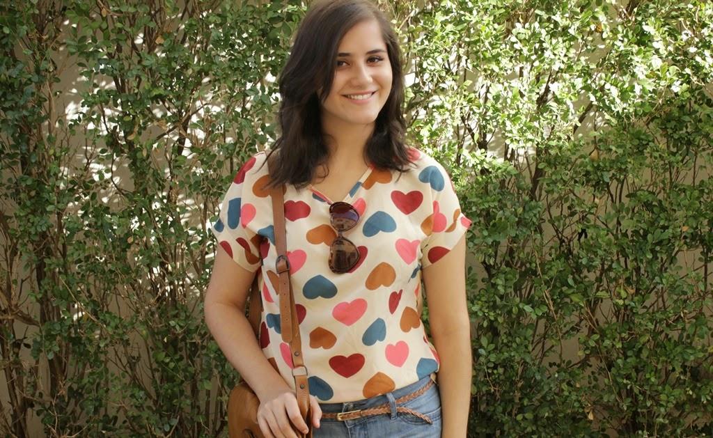 T-shirt  de coraçao Aliexpress
