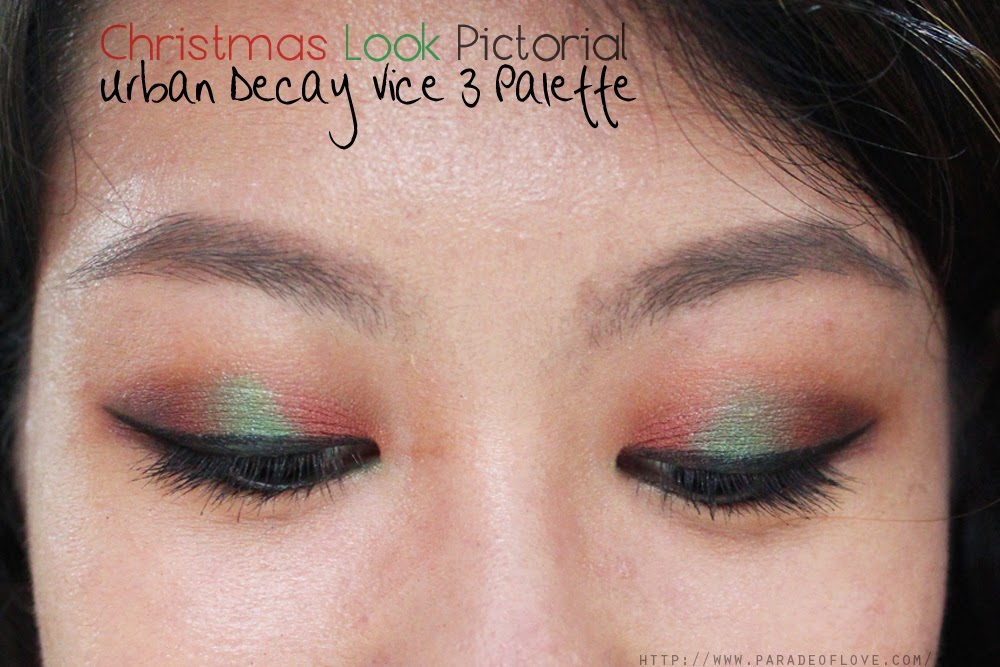 Christmas Makeup Look Pictorial