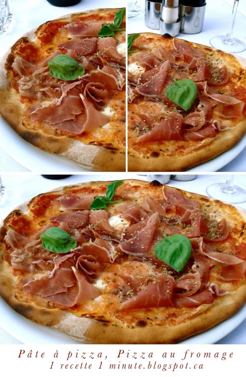 Pâte à pizza à lhuile dolive / Pizza au fromage