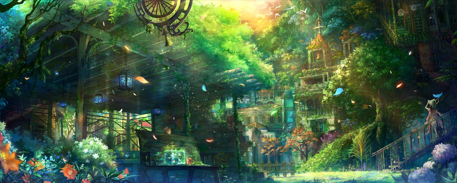 City Anime Landscape