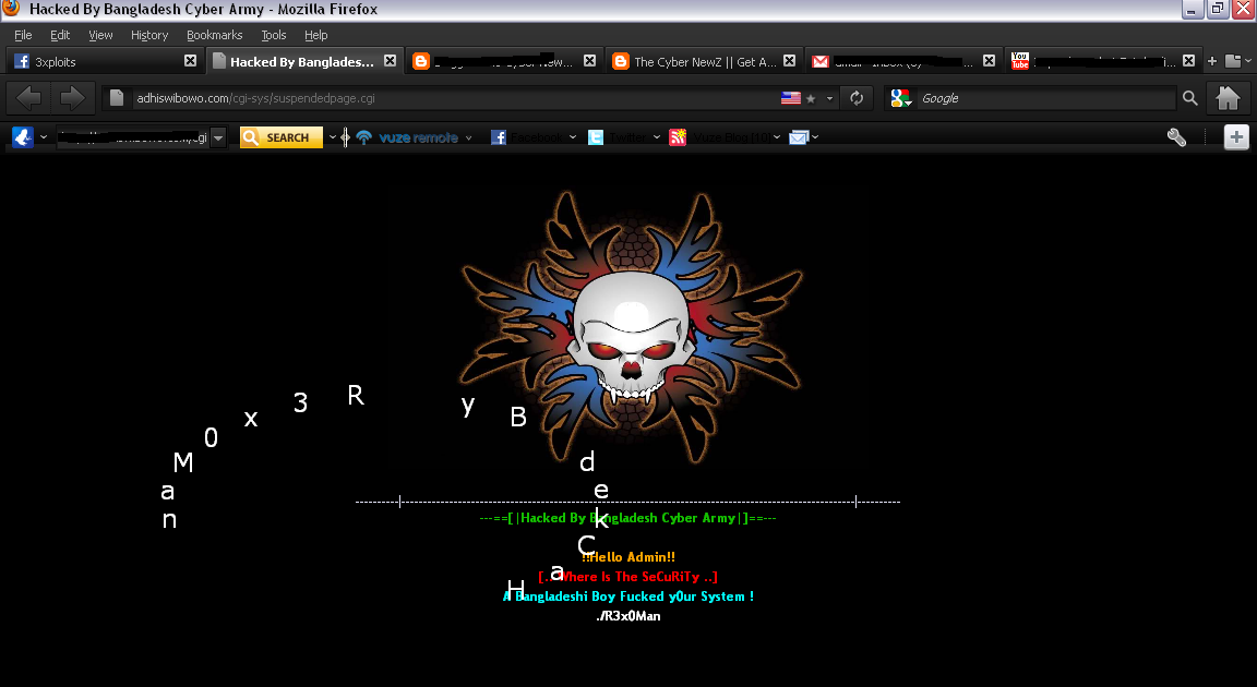 205 Website Hacked By R3x0Man (Bangladesh Cyber Army