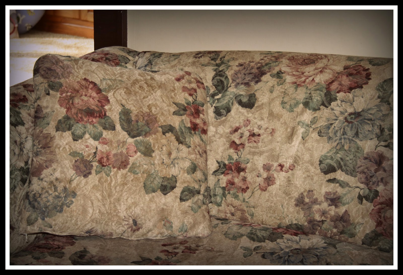 floral beige upholstered sofa furniture used gallery couch