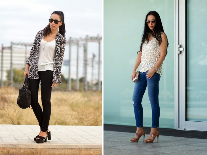 Resumen outfits Octubre 2013 Streetstyle Withorwithoutshoes Animal Print y Sandalias Doradas