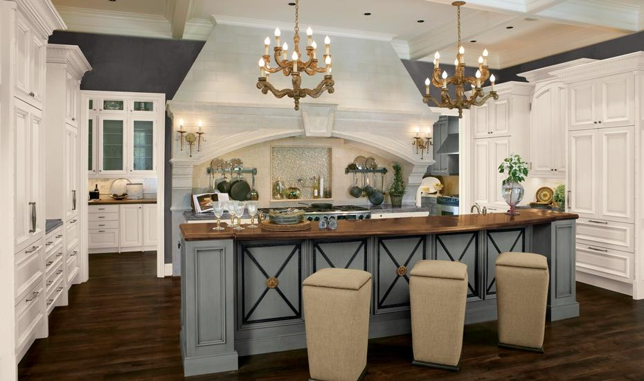 French Country Galley Kitchen french country kitchen countertops - wallpaper side blog
