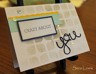 Using the Watercolor Wishes Card kit and Crazy About You
