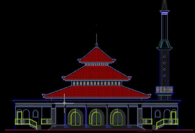 Gambar Kerja Masjid Lengkap DWG