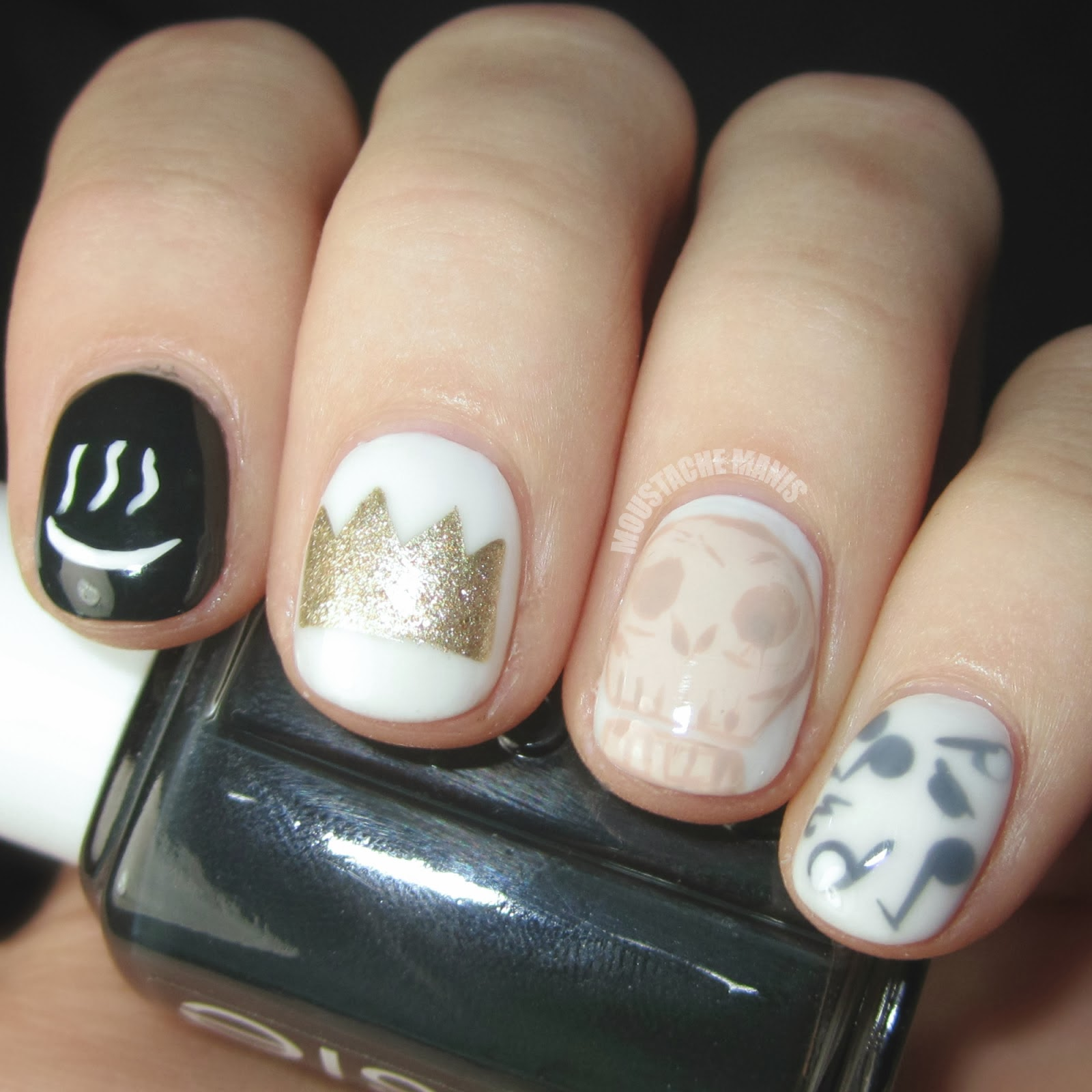 One Hundred Styles: Music Notation Nail Art Designs