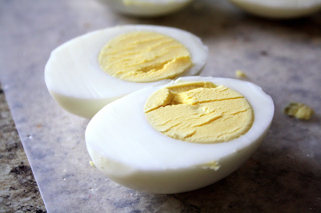 BACON CHEDDAR DEVILED EGGS: Butter with a Side of Bread