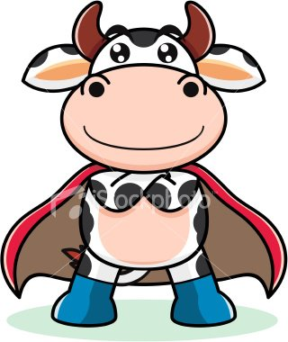 Wallpaper cow cartoon