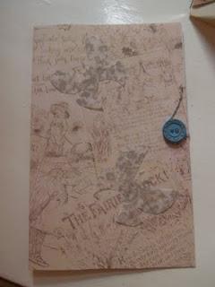 Hjemmelavet kort med knap og snor