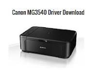 Canon PIXMA MG3540 Driver Free Download