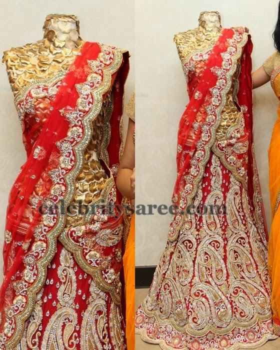 Paisley Design Wedding Half Saree