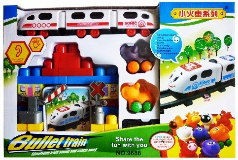 Kado ulang tahun berupa mainan kereta api untuk si kecil