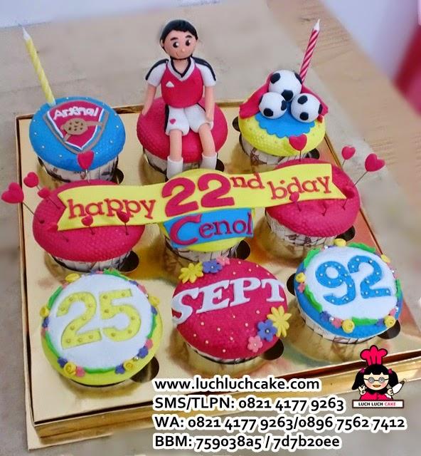 Cupcake Club Bola Arsenal Daerah Surabaya - Sidoarjo