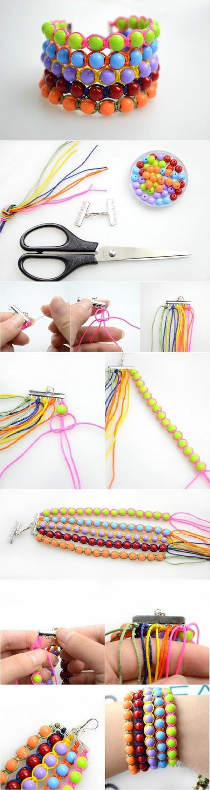 DIY : Make a Wide Beaded Wristband