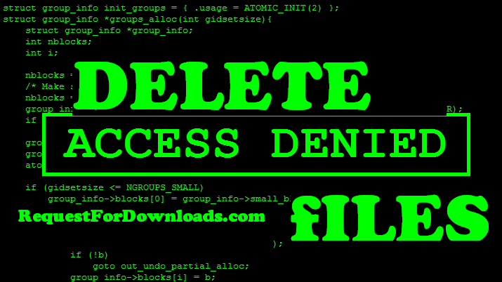 How to Delete a System File in Windows 7 or Vista - Delete System 32 Files using CMD by RequestForDownloads.com