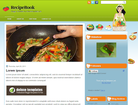 RecipeBook Blogger Theme