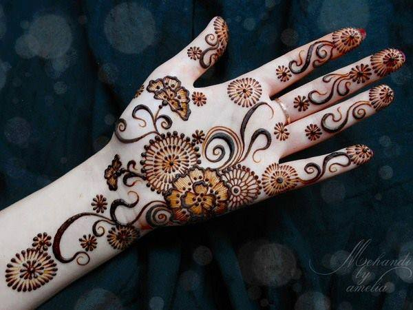 Mehndi For Teenage Girls : Awesome indian mehndi designs pics simple henna