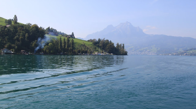 Feeling fresh and cold while sailing along Lake Lucerne in Lucerne, Switzerland