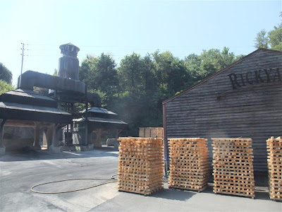 Jack Daniels distillery, kentucky, charcoal