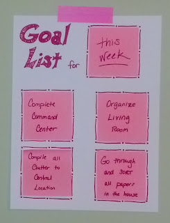 My Goal List for this week