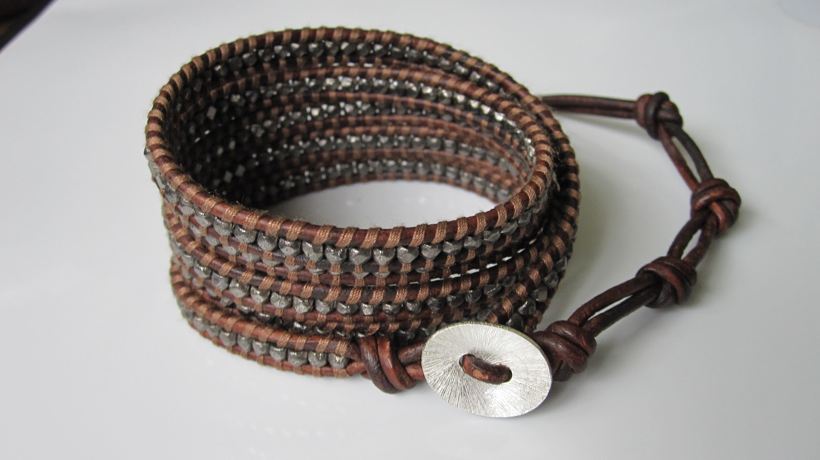 Ice Cream When The Sky Is Grey Diy How To Make Chan Luu Style Men S 5 Wrapantique Gunmetal Wrap Braceleton Red Brown Leather