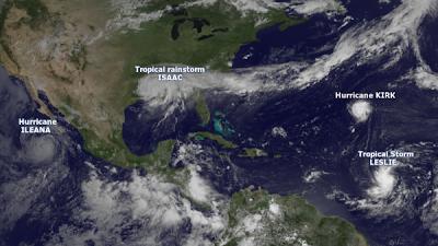 Cuatro tormentas tropicales en el Atlántico y el Pacífico están en varias etapas de desarrollo, 31 de Agsoto 2012