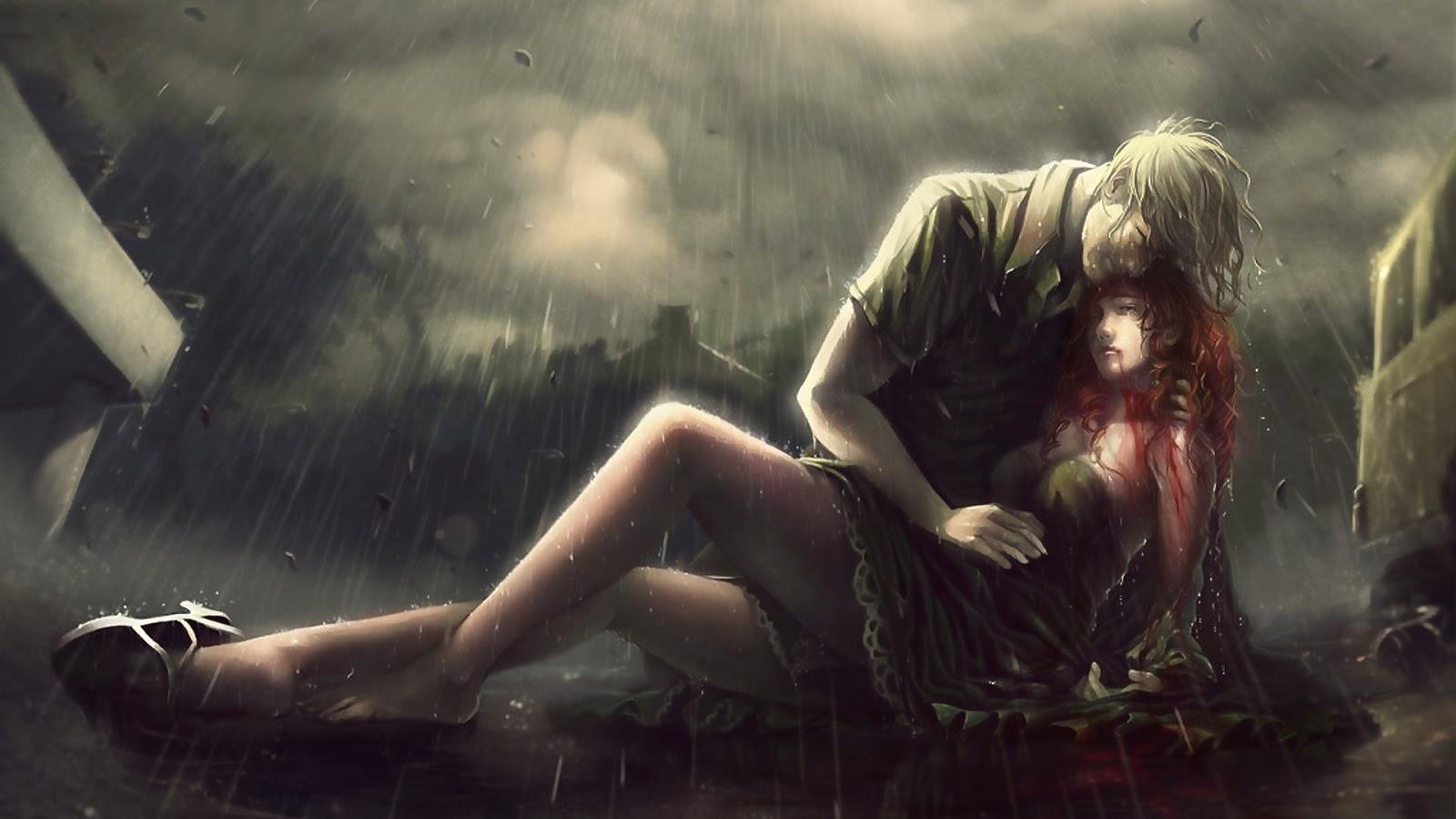 Những giọt mưa lặng lẽ âm thương là biểu hiện của nỗi buồn và nỗi khát khao mong chờ một điều gì đến