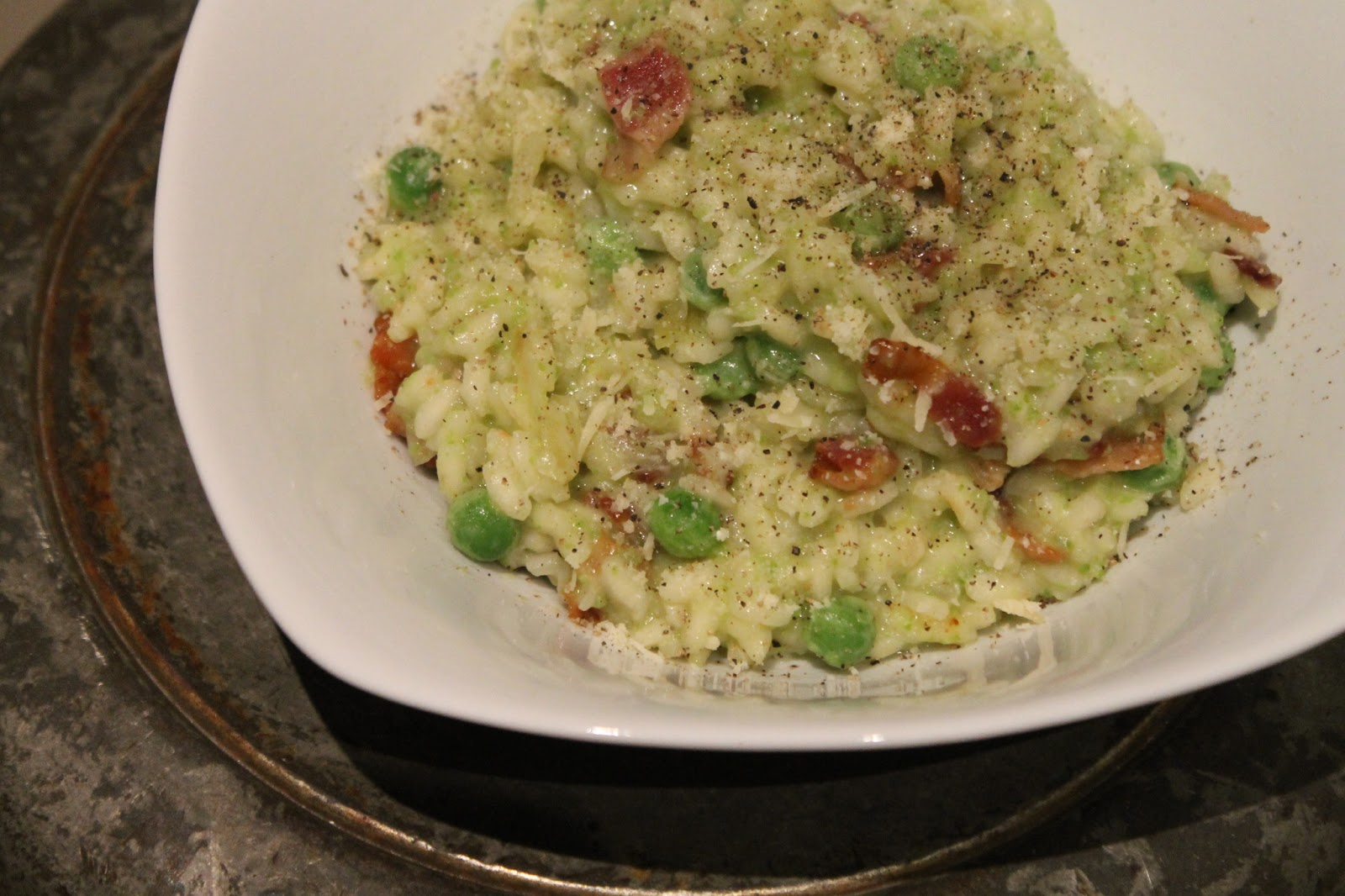 Cookin' & Craftin': Pea and Bacon Risotto