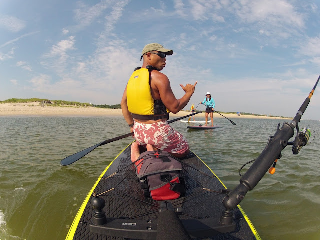 The life amphibious hooked sup fishing near the for Fishing chesapeake bay