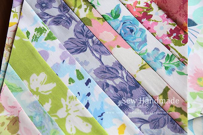 string quilt block vintage linens sheets