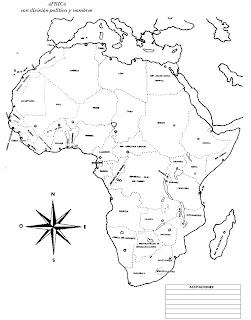 Mapa de Africa para imprimir