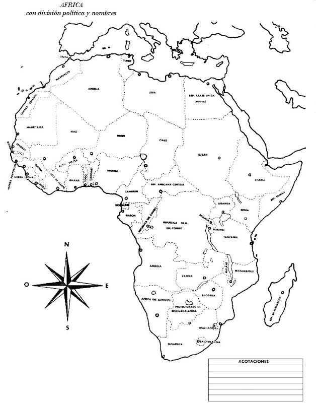 Increíble Mapa Para Colorear áfrica Motivo - Dibujos Para Colorear ...