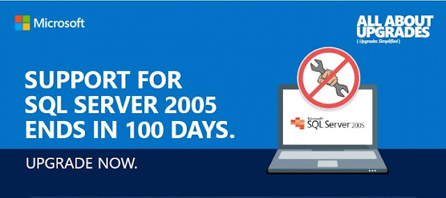 100 days left for SQL Server 2005 support time to update version