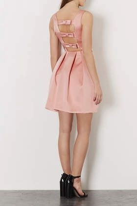 Topshop Duchess Satin Bow Dress - Affordable Pink Wedding Dresses