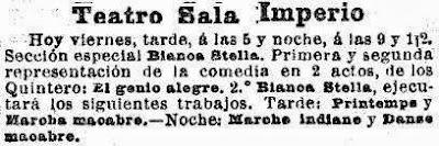 Recortes de prensa de La Vanguardia sobre la Sala Imperio, en diferentes épocas (1)