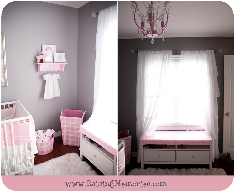 Raising Memories Pink And Gray Baby Girl Nursery - Pink and grey nursery decor
