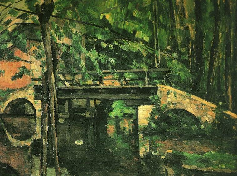 CÉZANNE, Paul: A Ponte em Maincy (1879, óleo/ tela, 58,5 cm x 72,5 cm, no acervo do Museu d' Orsay)