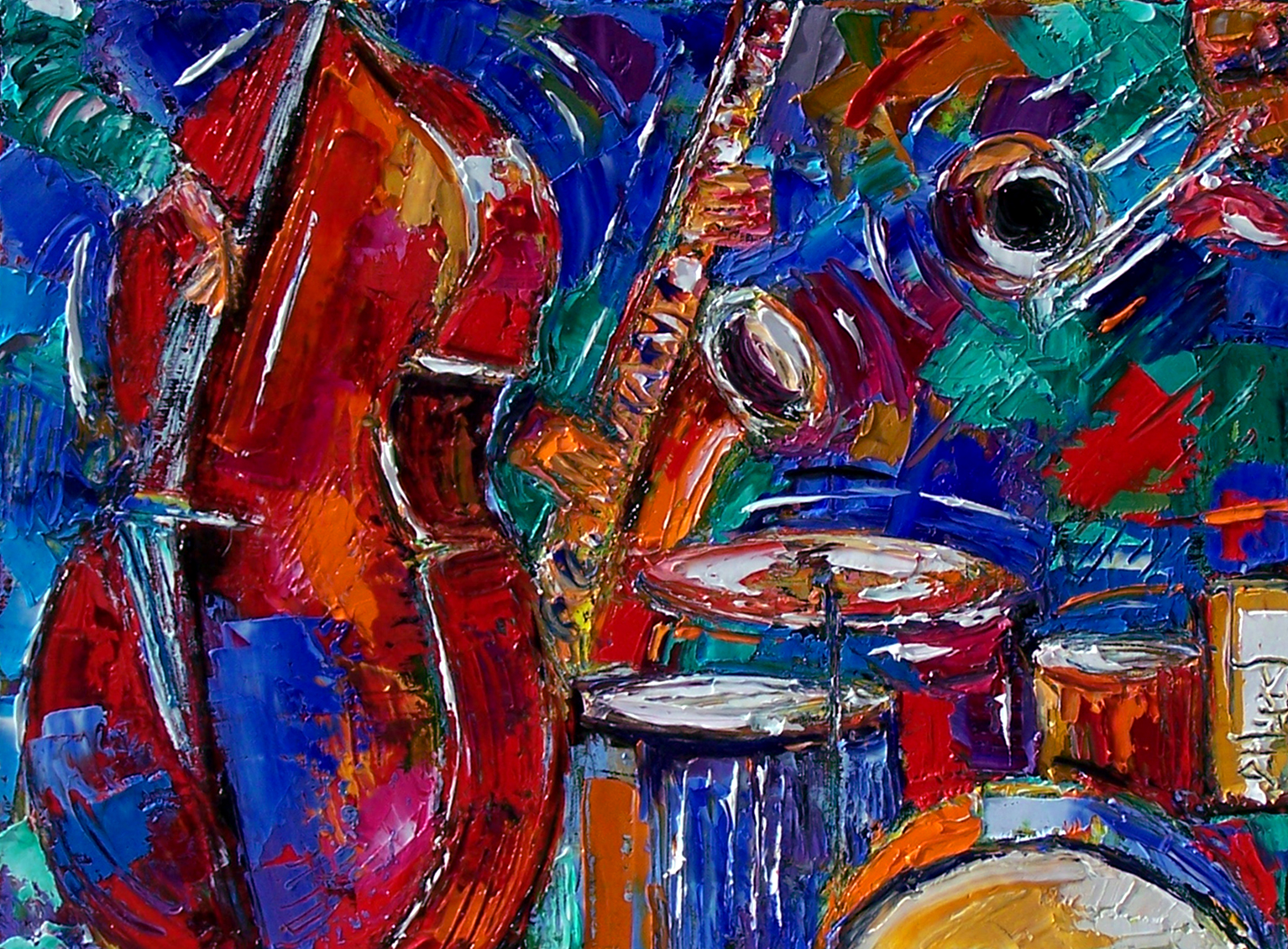 Debra Hurd Original Paintings AND Jazz Art February 2012