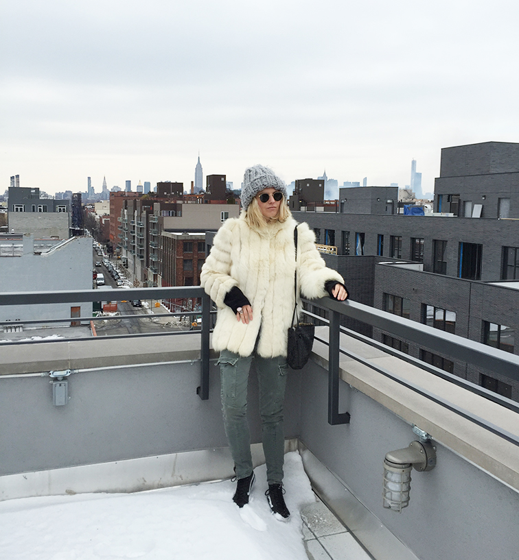 Fashion Over Reason rooftop chronicles, winter, fur, outerwear, J Brand, Vans, Vans Girls