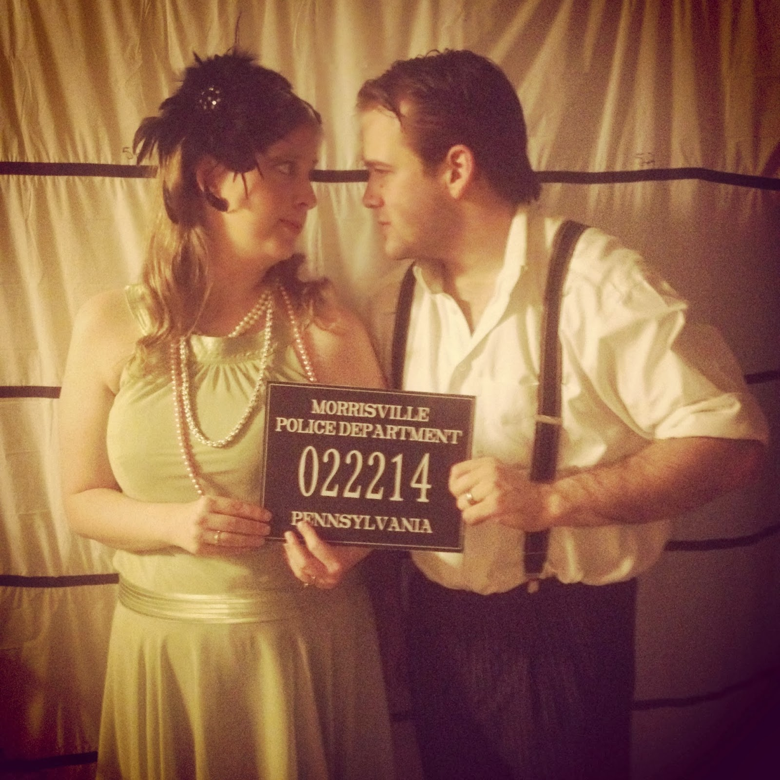End of the Roaring 20s Speakeasy Birthday Party photo booth